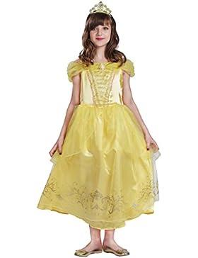Fantast Costumes Goldenes Prinzessinkleid für Mädchen Bella Kostüm Kleid Gelb Party Prinzessin Kleid