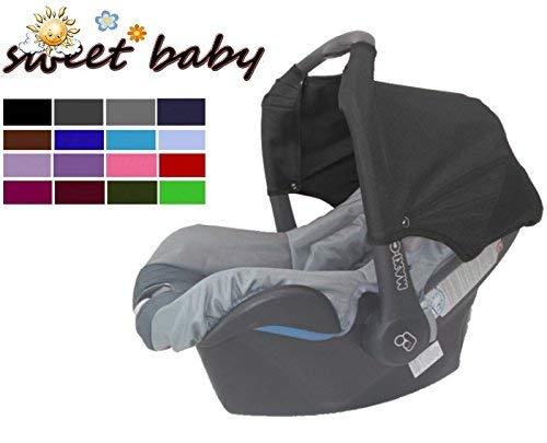Sweet Baby ** GRAU ** Universal Verdeck/Dach für Maxi Cosi Citi SPS Babyschale Gruppe 0+ als Sonnenschutz/Windschutz/SonnenDach/Sonnenverdeck