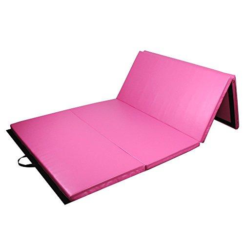 Yogamatten Sportmatte klappbar Fitness & Jogging 180cm 3-fach faltbare Fitnessmatte und Gymnastikmatte...