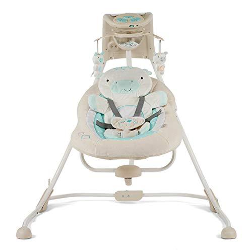 BIANJESUS Babywippe Stuhl, Fernbedienung Baby Schaukelstuhl Schaukel Neugeborenes Kleinkind Kinder Musik Batterie Schnell Montage Elektrische
