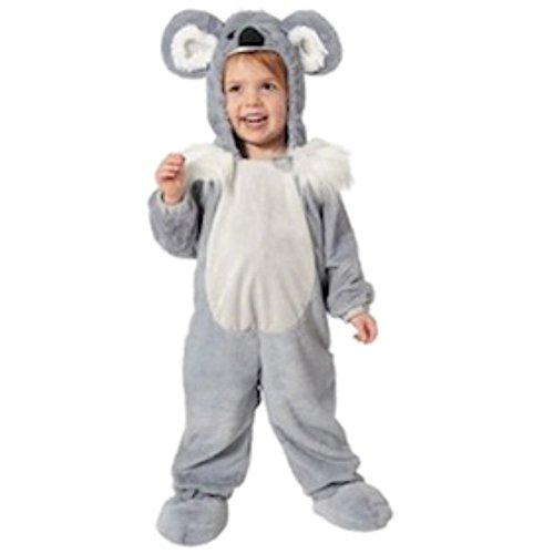 Koala Baby Kostüm (Koala Bär Baby Kinder Jumpsuit mit Kapuze Fasching Halloween Karneval Kostüm)