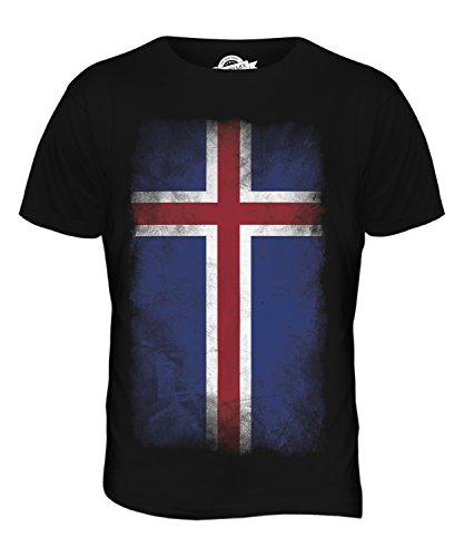CandyMix Island Verblichen Flagge Herren T Shirt Schwarz