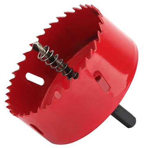 90mm Lochsäge Metall Cutter mit Zentrierbohrer Zahn Schneidwerkzeug für Aluminium Holz Kunststoff Gipskartonplatte