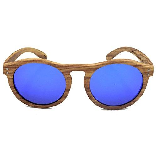 hibote Oval Convex Nose Zebra Boisen Polaris¨¦es Glasses Homme Femme Bleu