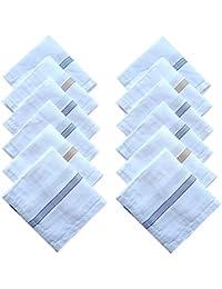 Indiacrafts Cotton Handkerchiefs for Men Set of 12 Piece