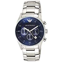 Emporio Armani For Men - Analog Stainless Steel Band Watch - Ar5860, Silver Band