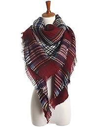 6ea8082fb27a Aostar XXL Écharpe Femme, écharpe châle foulard étole pashmina en Cachemire  Chaud Automne Hiver Grand