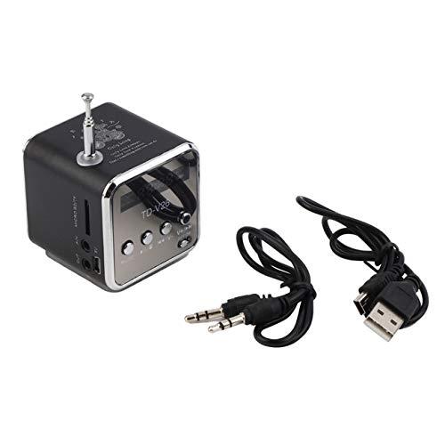 Elviray Tragbarer Micro-TF-USB-Minilautsprecher Musik-Player Tragbarer FM-Radio-Stereotelefon-Laptop MP3-MP4-Player Minilautsprecher