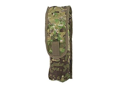 BE-X MOLLE Tasche für Softair / Airsoft Gasflaschen - PenCott Greenzone (26 x 7 x 6 cm)