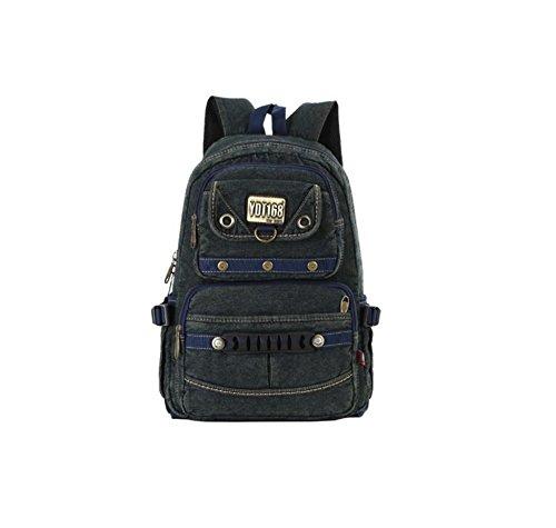 SZH Haltbarer starker Segeltuch-Rucksack für Schule-Wanderung-Spielraum-Rucksack Green