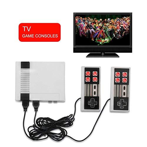 ZOYITO Classic Konsolen Game Player TV Spielkonsole Klassisches Familien Spiel Konsolen Berufs Eingebautes 600 Fernsehapparat Videospiel mit Doppelsteuerpulten