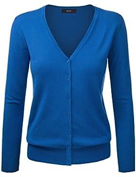 Amayar Cardigan Basic con cierre de botones, para Mujer