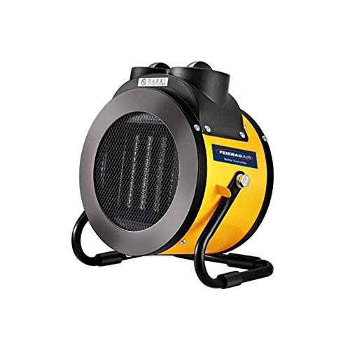 Elektrische Fan-Wärme Heimer,2KW Fan-Warmer Edelstahl Überwärtschutz anpassbare thermostatische Steuerung mit Überhitzeschutz für Haus und Büro -