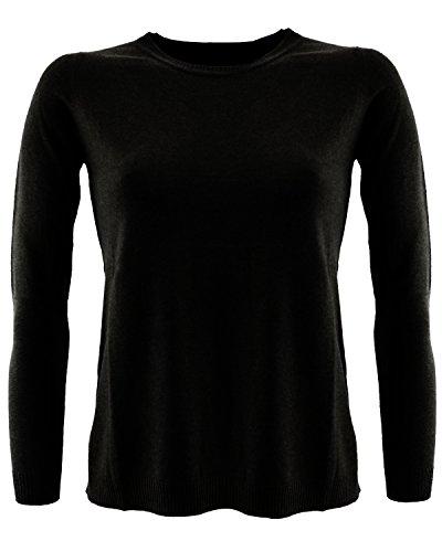 knit00016 Kocca Maglione misto cashmere Nero L Donna