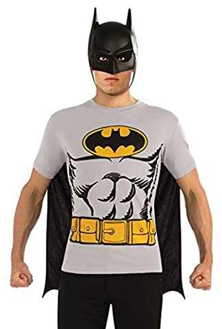 BATMAN Costume Adult T-Shirt Set Stag Fancy Dress XLarge