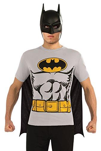 Rubie 's Offizielles Batman T-Shirt Set, Erwachsenen-Kostüm-X-Large (Offizielle Batman Kostüm)