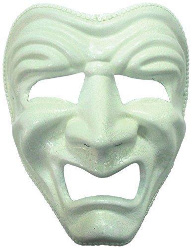 Trauriges Gesicht Fasching Anzug Maske in (Tiger Für White Kostüme Erwachsene)
