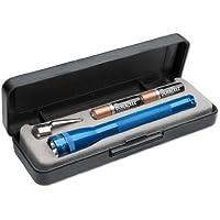 Mag-Lite LED Mini AAA Taschenlampe, 84 Lumen, 12.5 cm inklusive 2 Micro-Batterien und Taschenclip, blau, P32DS2E