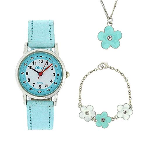 The Olivia Collection Kids Flower Watch & Jewellery Gift Set For Girls...