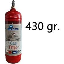 gas refrigerante R 290 para refrigeradores, deshumidificadores, nevera contadores ARNEG, mostradores refrigerados nacionales
