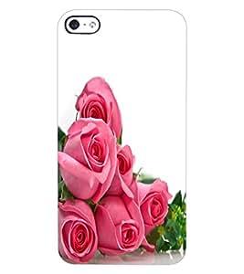 ColourCraft beautiful Rose Bouquet Design Back Case Cover for APPLE IPHONE 4