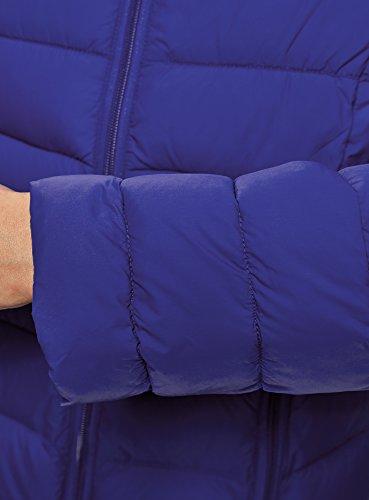 oodji Ultra Donna Giubbotto Trapuntato con Collo alla Coreana Blu (7500N)