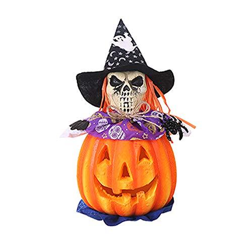 Newin Star Hand Skeleton Hut Stimmt Laterne Tragbare Halloween-Party-Kürbis-Licht Schädel-Schaum-Kürbis-Kopf-Lampen-Cosplay-Partei-Dekor-Licht-Halloween-Zubehör 1pc