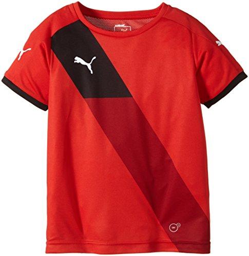 PUMA Kinder Hose Finale Short Sleeve Shirt, Puma Red-White, 152, 702069 01