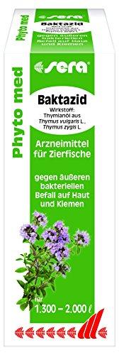 sera 32281 Phyto med Baktazid Arzneimittel für Zierfische gegen äußeren bakteriellen Befall auf Haut und Kiemen, 100 ml