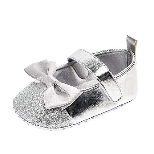 Turnschuhe Kleinkind Schuhe Babyschuhe Mädchen Tanzschuhe Ballerinas Leder T-Strap Schuhe Lauflernschuhe Mädchen Krabbelschuhe Streifen-beiläufige Wanderschuhe LMMVP (Winter Ballerina Kostüm)