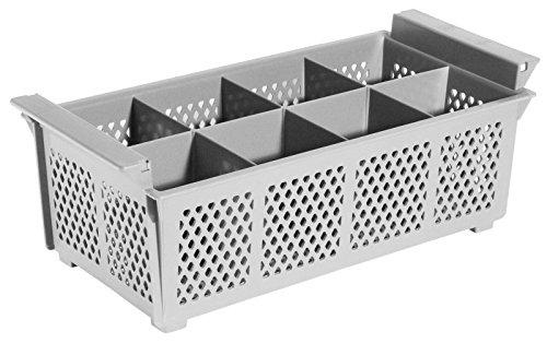 Geschirrspülkorb BESTECK, aus Polypropylen, stapelbar, mit robusten Griffen, hitzeresistent bis +120°C / 43 x 21 x 15 cm | ERK