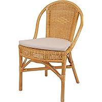 Impilabile Sedia in rattan Klassik in der Colore Miele con cuscino, cucina sedia in rattan naturale spedizione gratuita in DE