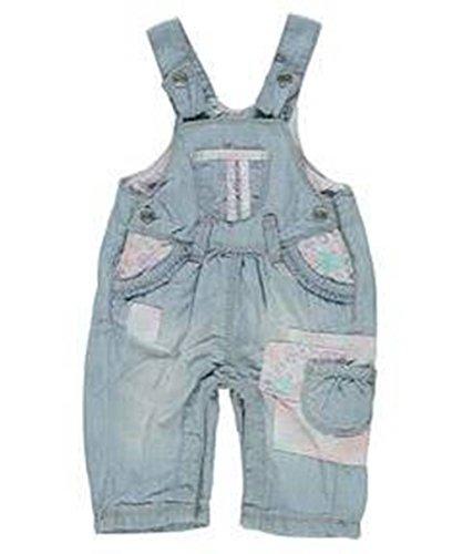 Kanz Baby Latzhose 'Ice Ice Baby' - Mädchen - Blau / Bunt - 68, blau, Mädchen