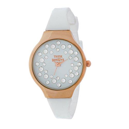 horloge-femme-think-positive-modle-se-w89-small-ros-steel-bracelet-en-silicone-couleur-blanc