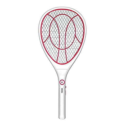 Electric Mosquito Fly Bugs Swatter Zapper Bat Racket, Pests Insects Control Killer Repellent, USB Rechargeable, LED Lighting, Double Layers Mesh Protection