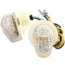 Flush Mount LED Turn Signal Clear 4R6S 2008200720062005Yamaha R12004200302–08Yamaha YZF R1R6R6S Fazer FZ6FZ1