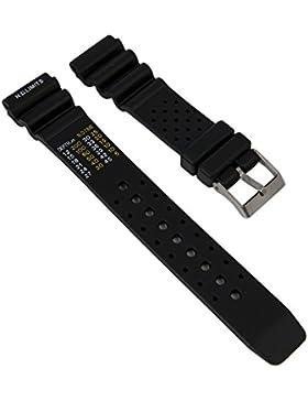 Uhrenarmband Taucherband Ersatzband Kautschuk Band 27142S, Stegbreite:20mm
