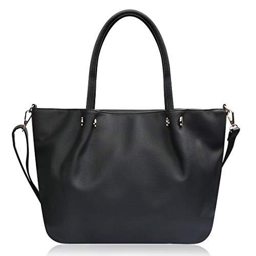 Yadelai Damen Handtaschen,Große Kapazität Weiche PU-Leder Tote Handtaschen Umhängetasche für Damen,Multi-Tasche Laptop Reise Work Schulter Crossbody Tote Bag für Frauen (Schwarz) -