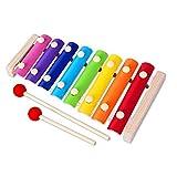 Holz Xylophon für Kinder,  Holzinstrumente Kinder  Musikinstrument Spielzeug Geschenke für Babys,Kinder und Kleinkinde mit hellen bunten Tasten, Früherziehung Musik  Kinderspielzeug