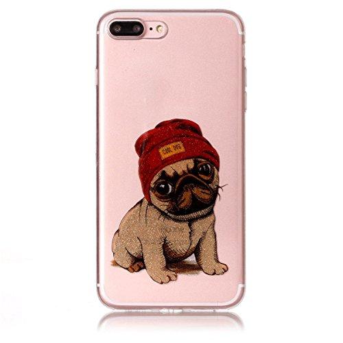 iPhone 7 Plus Hülle ,Fodlon® Ultra Slim Fit TPU Gel Skin BlinkenPulver Schutzhülle / Case / Cover -Saflorschmetterling Welpe