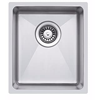 340 x 440 mm Undermount/Inset Deep Single Bowl Stainless Steel Kitchen Sink With Waste (LA016)