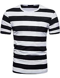 camicia nere Uomo it righe Abbigliamento Amazon bianche PHw0517q