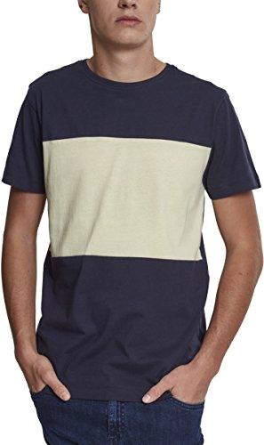Urban Classics Herren Regular Fit T-Shirt Contrast Panel Tee TB2057, Gestreift, Gr. XX-Lar Preisvergleich