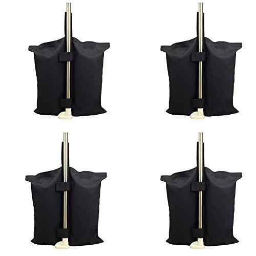 Qualità industriale resistente da pesi per tenda pop up canopy ponderata per piedi, con doppia cucitura pesi per sabbia 4pcs-pack , nero.