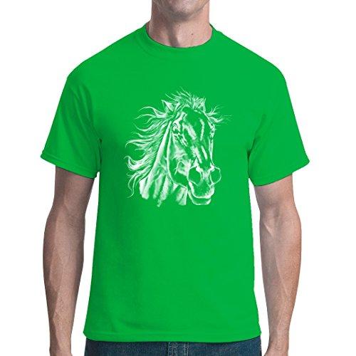 Fun unisex T-Shirt - Pferdekopf by Im-Shirt Grün