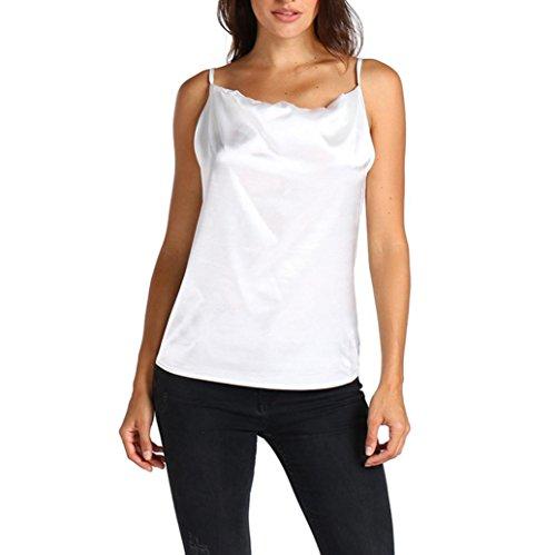 OSYARD Mode Damen Tank Top Weste aus Schulter Halfter Bluse T-Shirt(EU 40/M, Weiß)