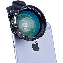 Apexel Lentes de Movíl Ángulo Amplio Ojo de Pez de 2 en 1 Clip-On con lente angular/ojo de pez para iPhone6/6s 12.5X Super Macro Lens + 0.63X Wide Angle Lens para iPhone 6/6s, 6Plus/6s Plus / 5S / 5, Samsung Galaxy S7/S7 Edge, S6/S6 Edge / S5, etc