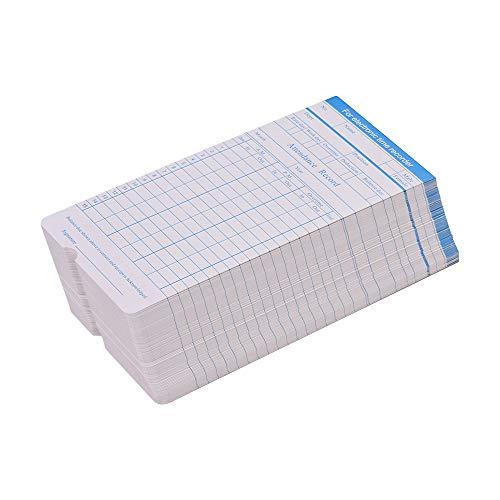 Festnight DOYO Time Card formato mensile fronte/retro formato 7.4 * 3.3 pollici per la macchina del registratore dell'orologio di tempo dei dipendenti di presenza vari, 100pcs / pack