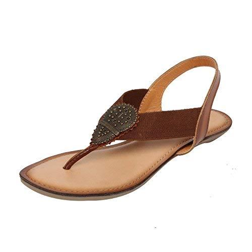 Catwalk Women's Tan Leather Fashion Sandals-7 UK/India (39 EU) (4305T)