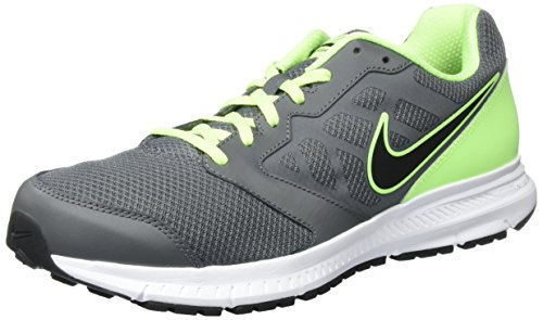 NIKE Downshifter 6 Schuhe Herren Sneaker Turnschuhe Weiß 684652 100 Grau (Dark Grey/Black-Ghost GREEN-WHITE)